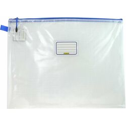 Osmer Single Zip Clear Mesh Pencil Case A3