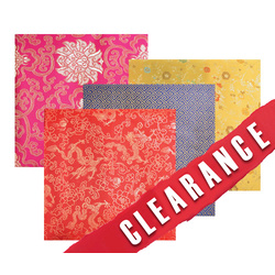 Chinese Fabric Pieces Set of 4 Sheets 98cm x 1m each piece