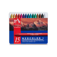 Caran d'Ache Neocolor 1 Pastels Assorted Tin of 15