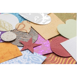 Handmade Collage Paper Assorted Shapes 500g