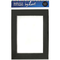 Zart Pre-Cut Mount board Frames Black and White Double Sided A5 Pack of 10