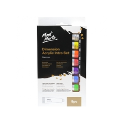 Mont Marte Dimension Set Acrylic Paint 8 x 18ml