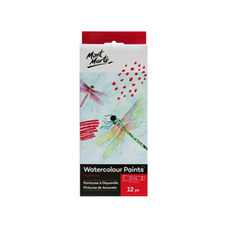 Mont Marte Signature Watercolour Paints 12pce x 12ml (0.41oz)