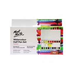 Premium Watercolour Half Pan Set 22pce