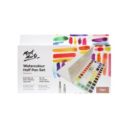 Premium Watercolour Half Pan Set 40pce