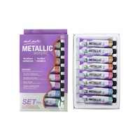 Mont Marte Metallic Acrylic Paint 8 x 18ml Tubes