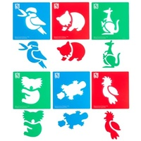 Australian Animals Series #1 Soft Stencil Set of 6