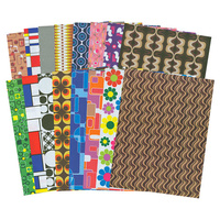 Pattern Paper Retro Pop Art A4, 32 Sheets 16 Designs