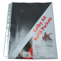 Refill Pockets for Refillable Display Book A4 Pack of 10