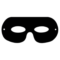 Scratch Art Eye Masks, Rainbow reveal, Pack of 10 Eye Masks - 10 Elastic Pieces - 10 Scrapers