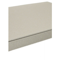 Strawboard/ CORE Boxboard Carton of 50 Sheets 650gsm - 1.2mm 690 x 910mm Light Grey