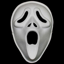 Paper Pulp Scream Mask Each with Elastic