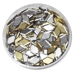 Bulk Sequins Gold and Silver Diamonds 50g