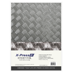 X-Press It A4 Sticky Foil Tread Plate 12 Sheets
