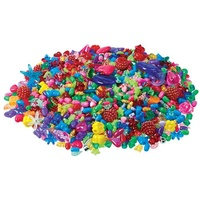 Craft Beads Assorted Colours Shapes and Sizes, 250g