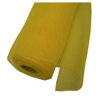 Floral Square Mesh Rolls 53cm x 9m Yellow