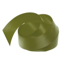 Satin Ribbon 25mm Olive 30m Roll