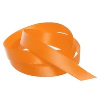 Satin Ribbon 25mm Orange 30m Roll