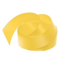 Satin Ribbon 25mm Yellow 30m Roll