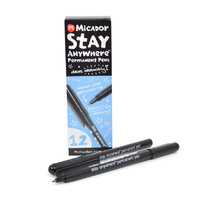 Micador Stay Anywhere Permanent Pens - Pack 12