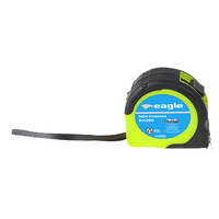 Tape Measure 8m/26ft Rubberized Case, Swing Cord & Belt Clip