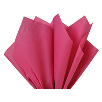 Coloured Tissue Paper Cerise 500 x 700mm Pack of 5