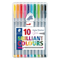 Staedtler Triplus 0.3mm Fineliners 334 Assorted 10 Pack