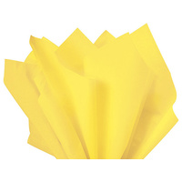 Coloured Tissue Paper Yellow 500 x 700mm Pack of 5