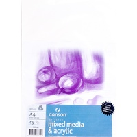 Canson Mixed Media Paper Pack A3, 300gsm 25 Sheets