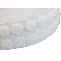 Bulk Dots Loop Fastener (Velcro) White 22mm x 1000