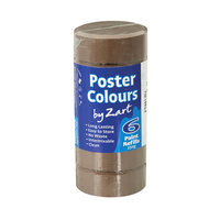 Zart Poster Colour Powder Paint Refill Burnt Umber Pack of 6