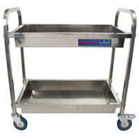 Stainless Steel School Trolley Lightweight, Heavy Castors