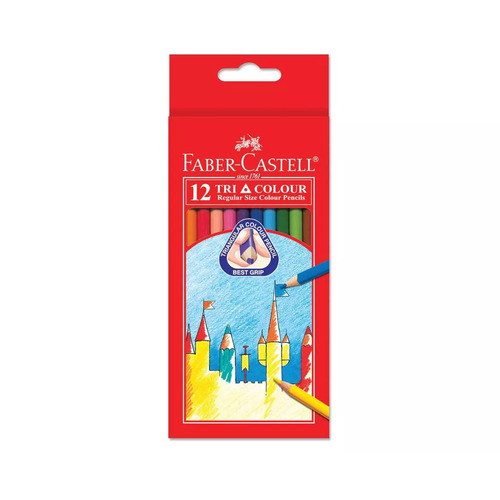 Faber-Castell Triangular Coloured Pencils Set of 12