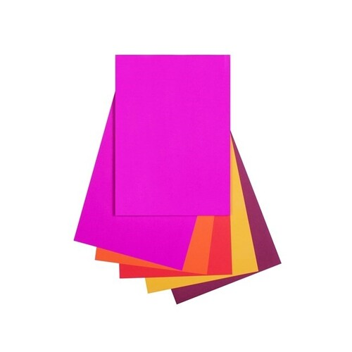Quill A4 80gsm Copy Paper Warm (reds)Assorted 100 Sheets